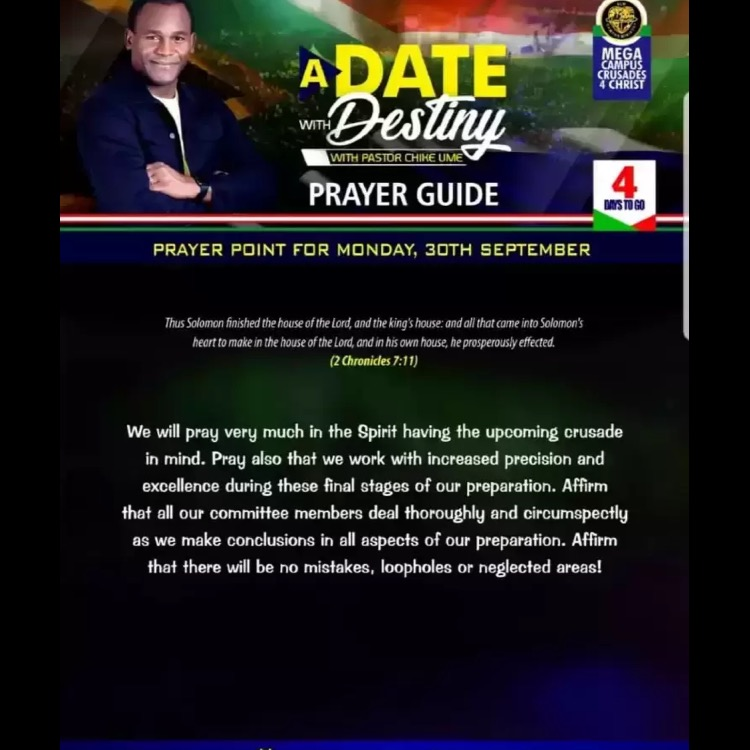 The Lord's program. #adatewithdestiny #BLWUKZoneA