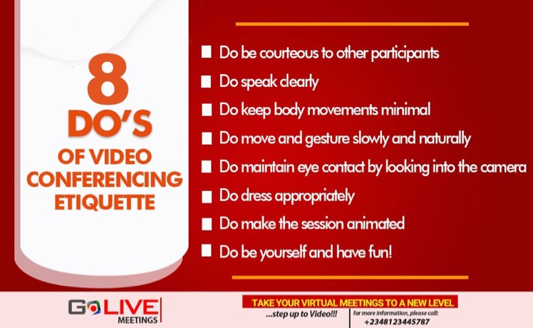 8 Do's of Video Conferencing