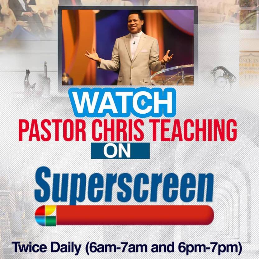 PASTOR CHRIS TEACHING ON SUPERSCREEN