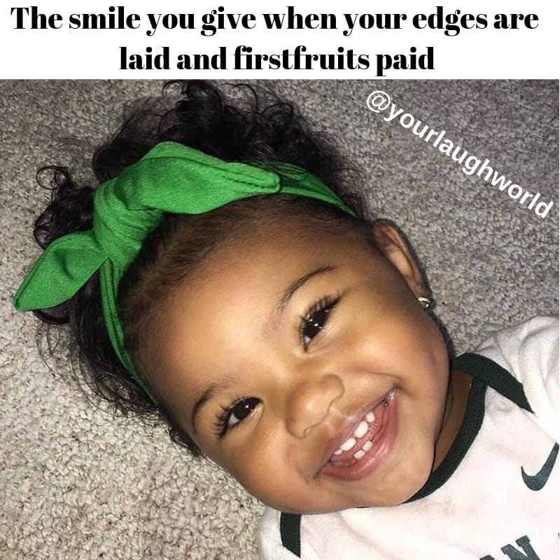 The smile you give when