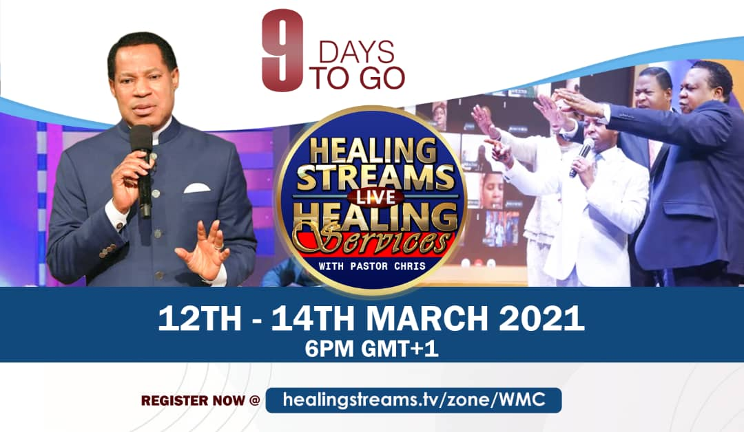 9 Days To Go!!! #LiveHealingServicesWithPastorChri