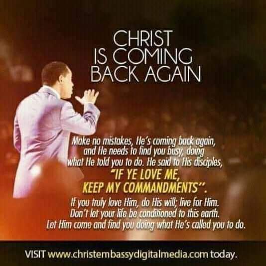 Christ is coming back again