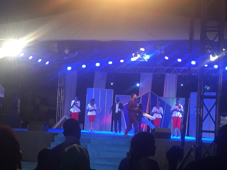 Victor Ike ministering at night