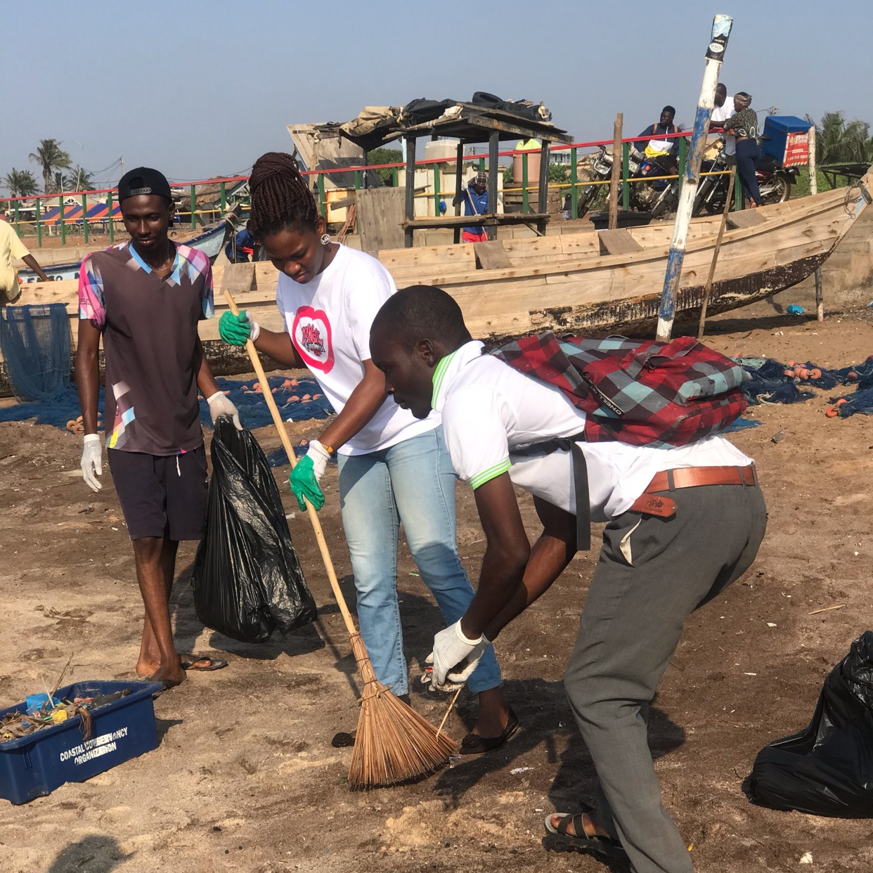 Our beach clean up exercise