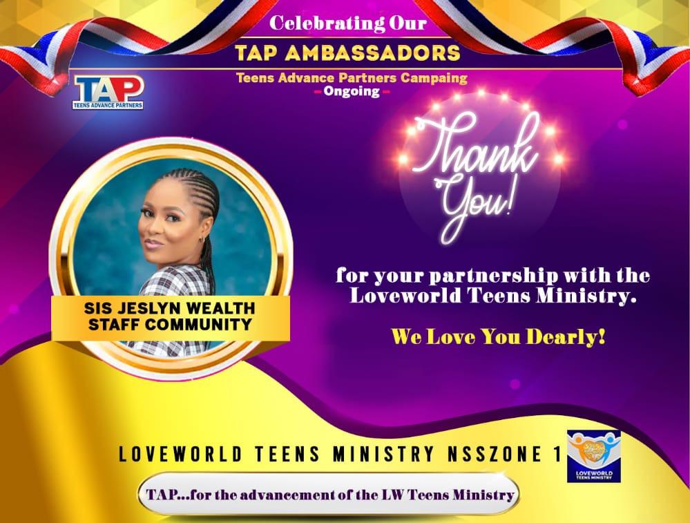 TEENS ADVANCE PARTNERS CAMPAIGN Celebrating