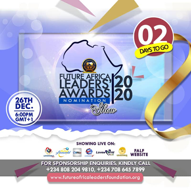 IT'S 2 DAYS AWAY🚀🚀 www.futureafricaleadersfounda