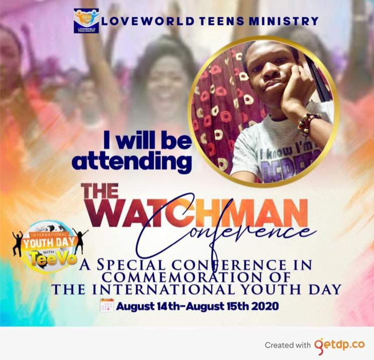 #watchman #IYD2020 #teevolution #CELVZ #lwteensmin