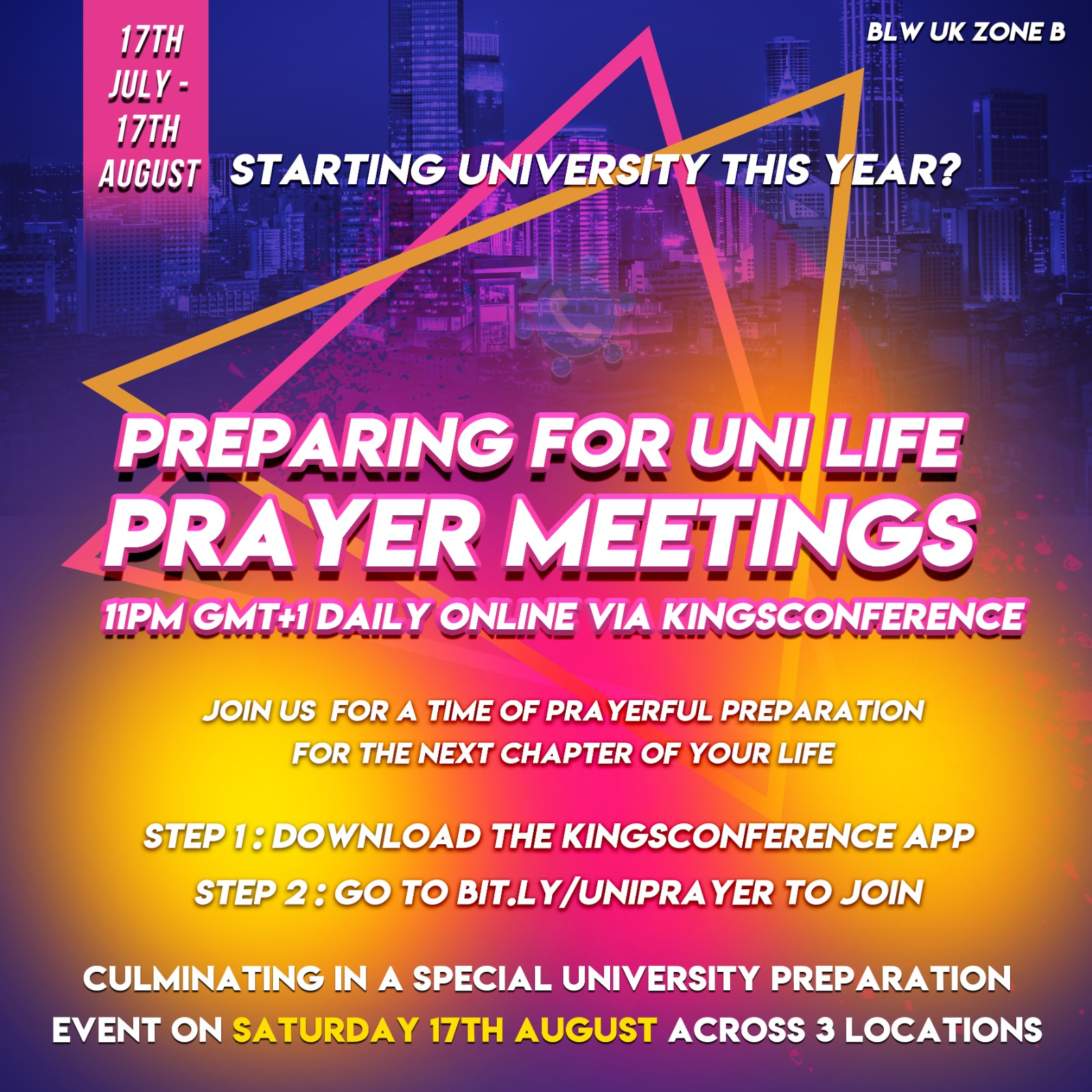 Join our prayer meetings every