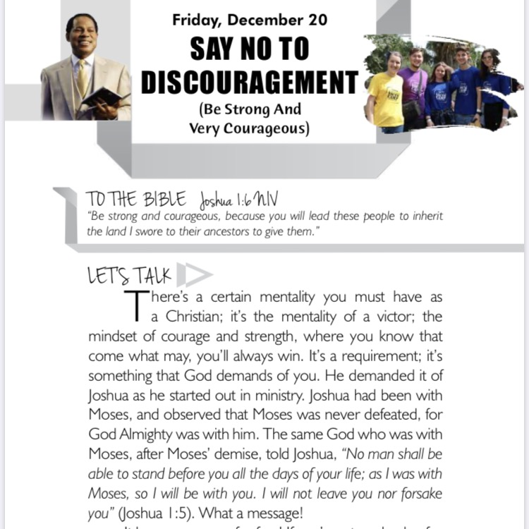Never find yourself in discouragement.