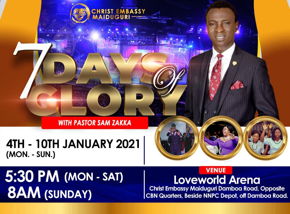 SEVEN DAYS OF GLORY WITH