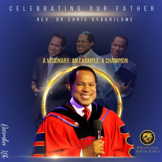 Blessed Pastor Chris! Our Beloved