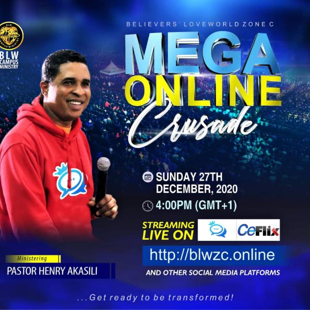 We are taking over #megaonlinecrusade