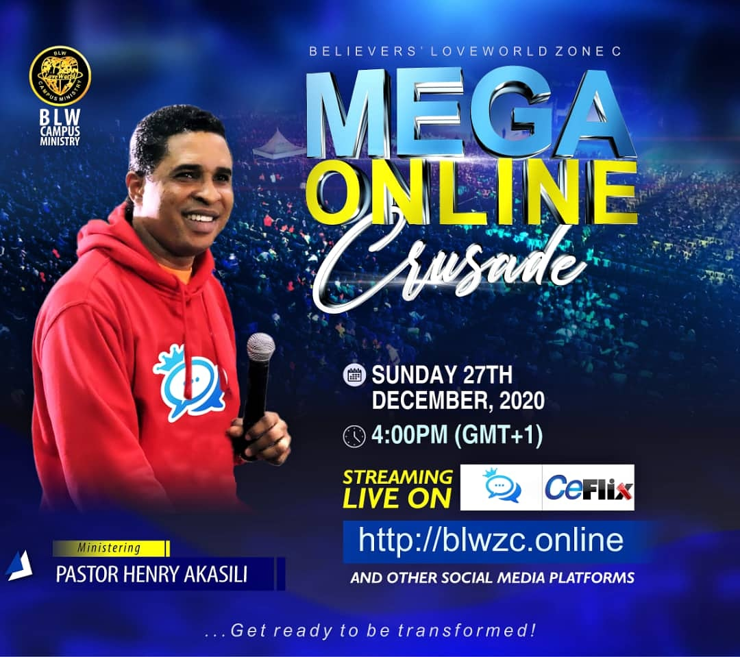 Glory to God #megaonlinecrusade #blwcampusministry