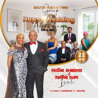 Happiest Wedding Anniversary Esteemed Pastor