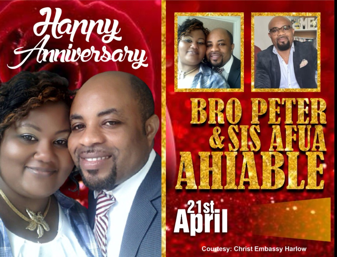 Happy wedding anniversary to the