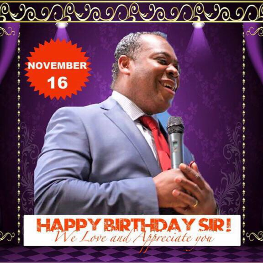 Happy Birthday Pastor! We love