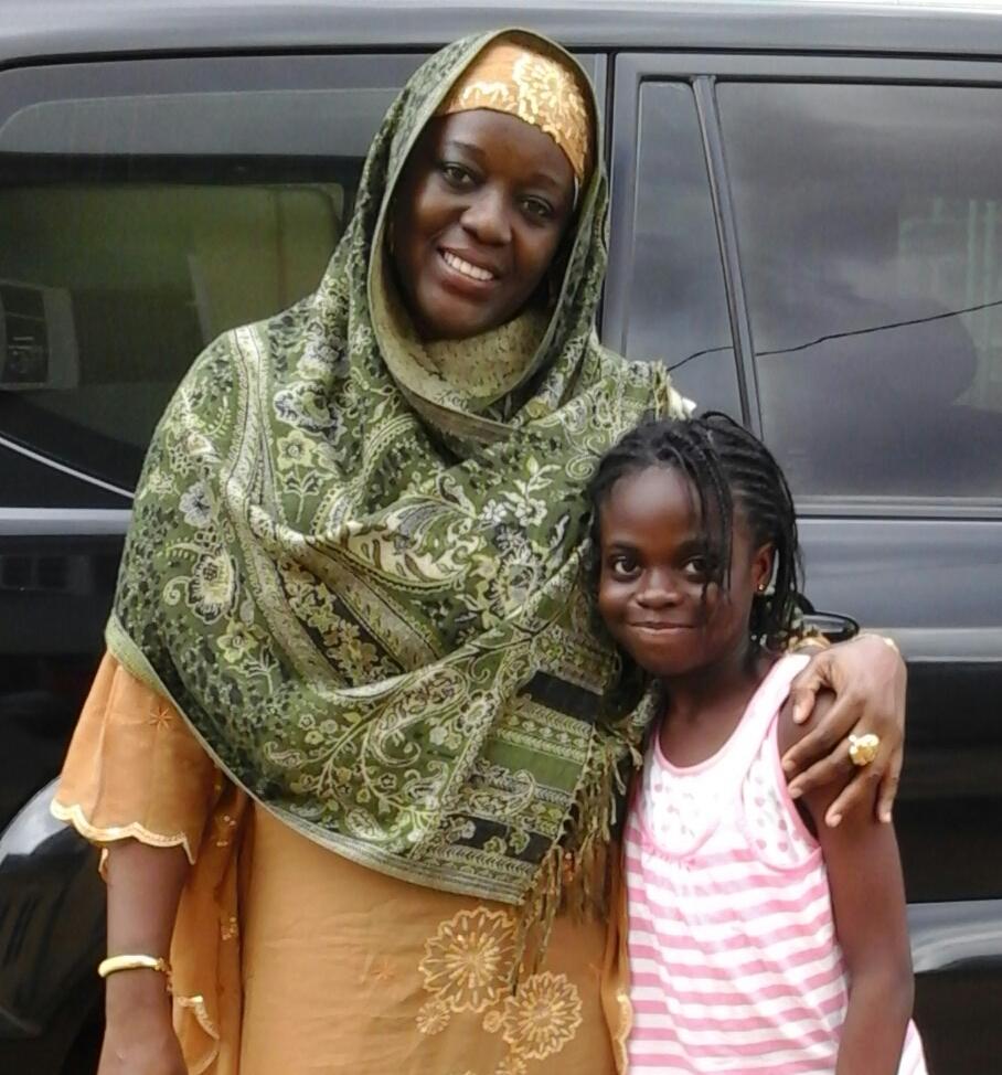 With my daughter Deborah who
