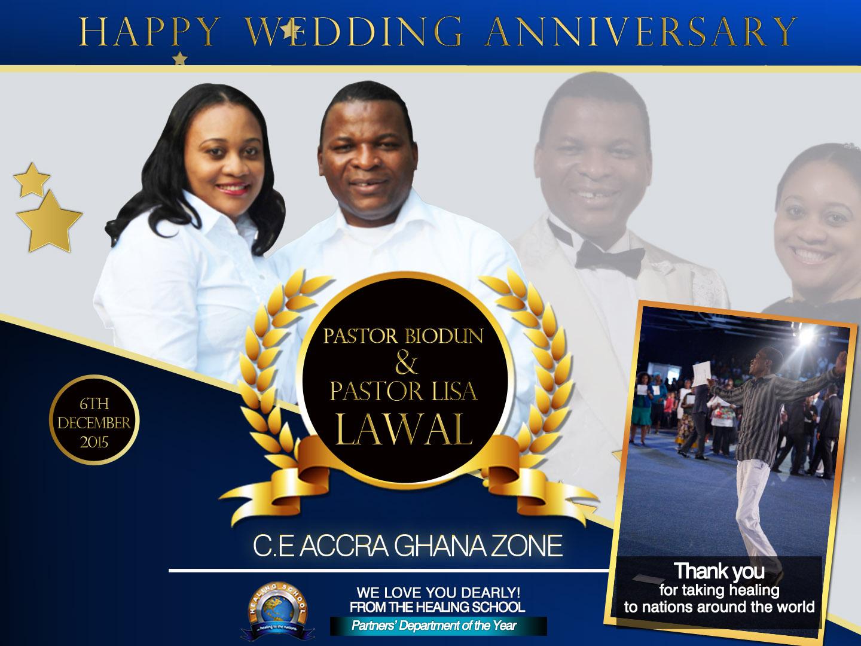 Happy Wedding Anniversary Pastor Sir