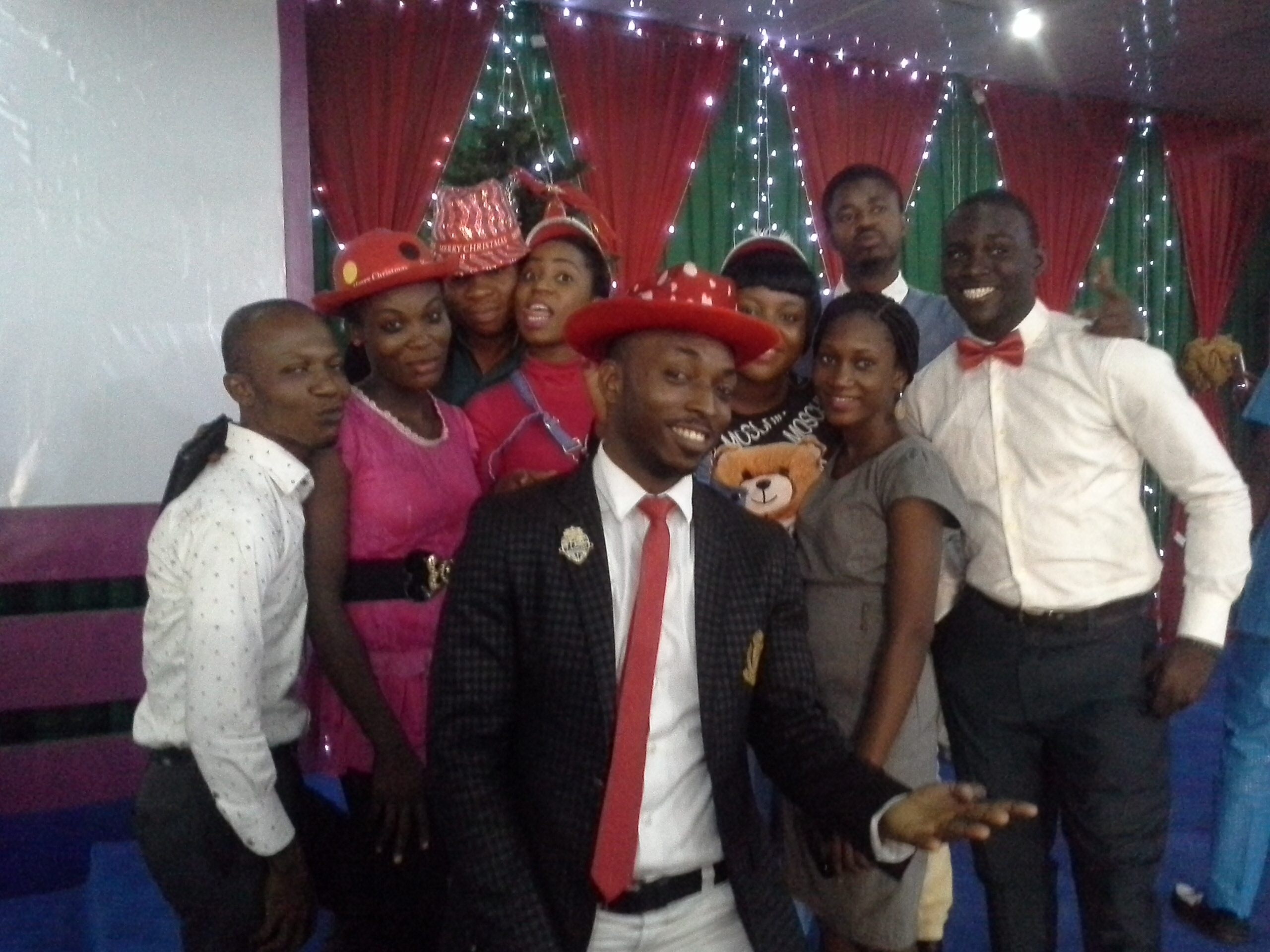 Christmas celebration with my leaders!
