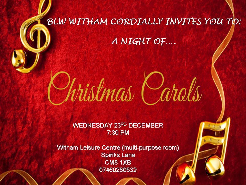 carol night service this Wednesday