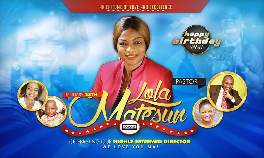 Happy Birthday Pastor Ma! I