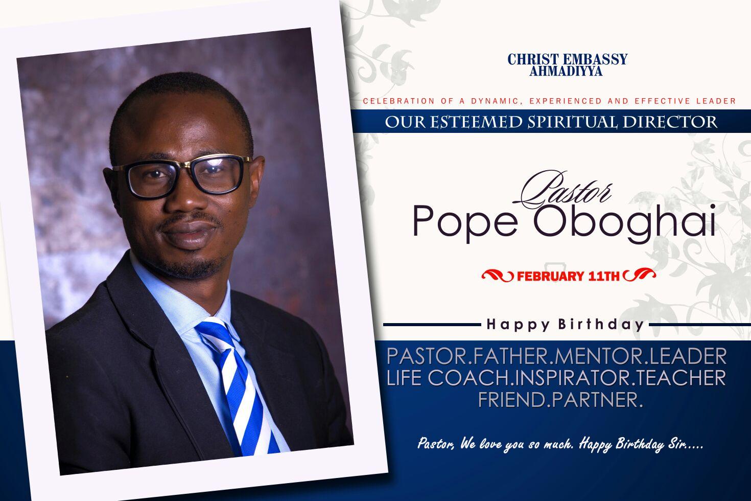 Happy birthday to you pastor.