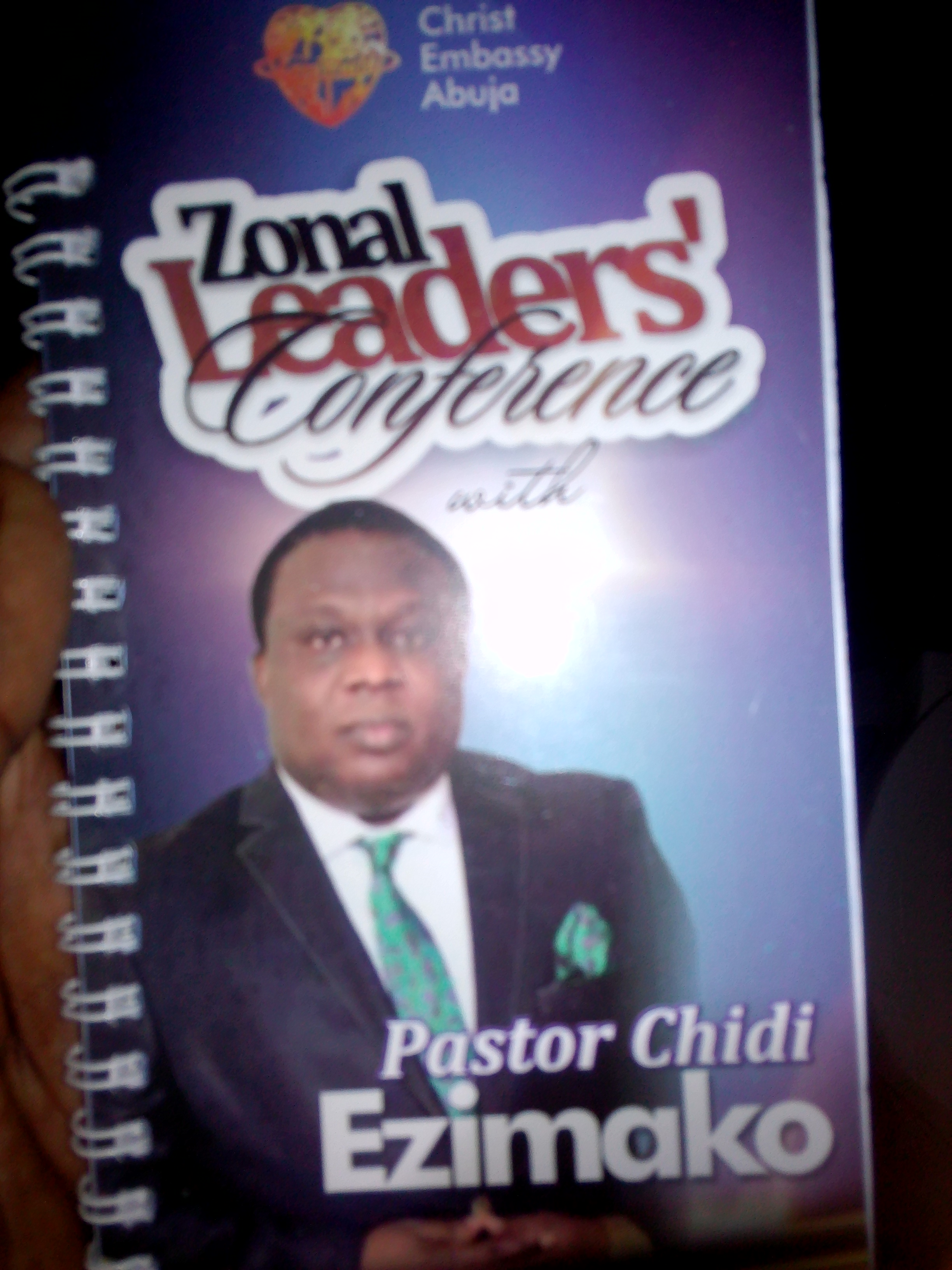Zonal Leaders conference with Pastor