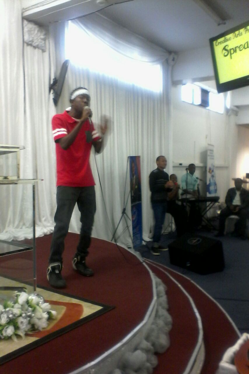 The brother performing the song