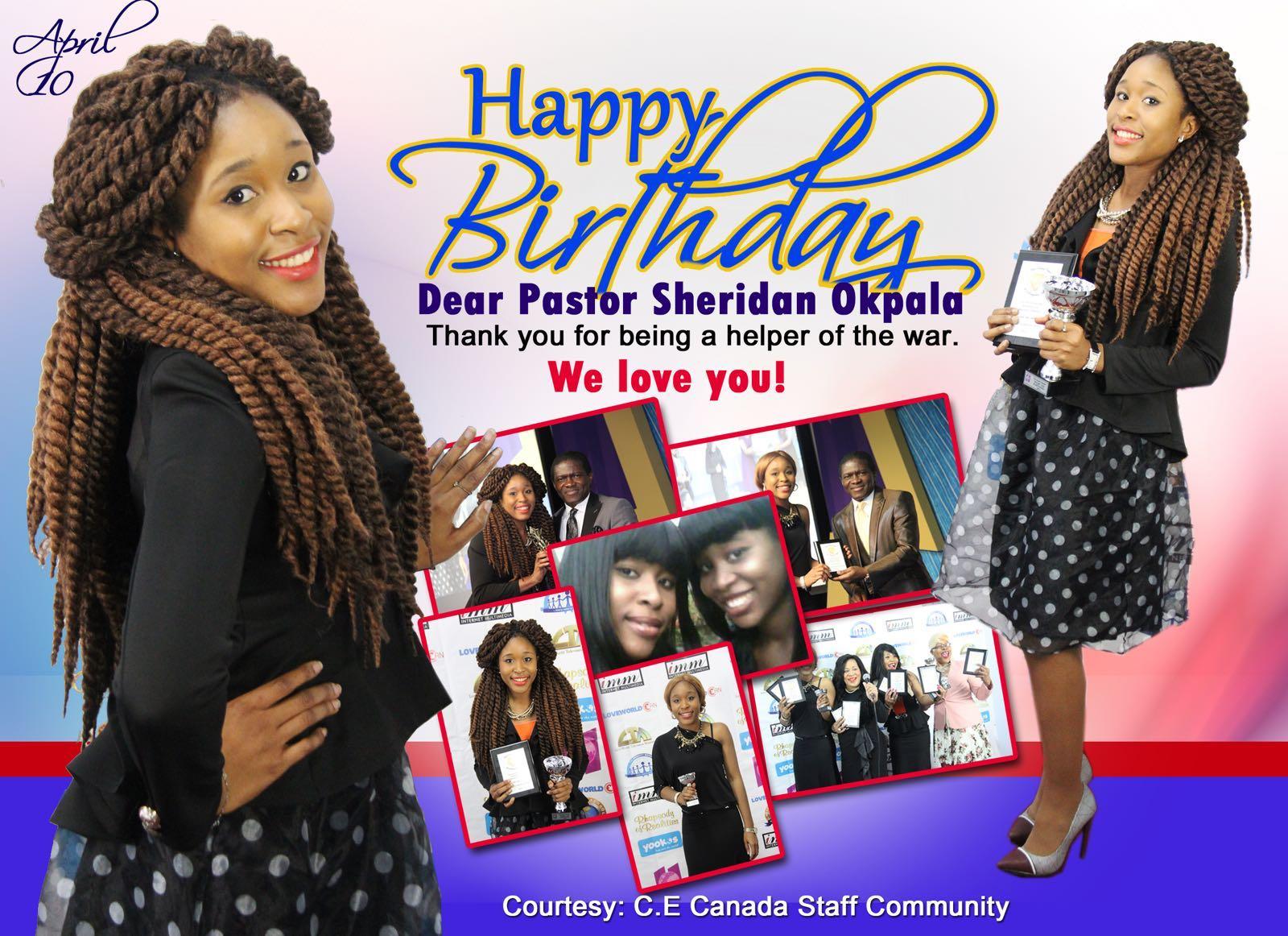 Happy birthday pastor Sheridan. I