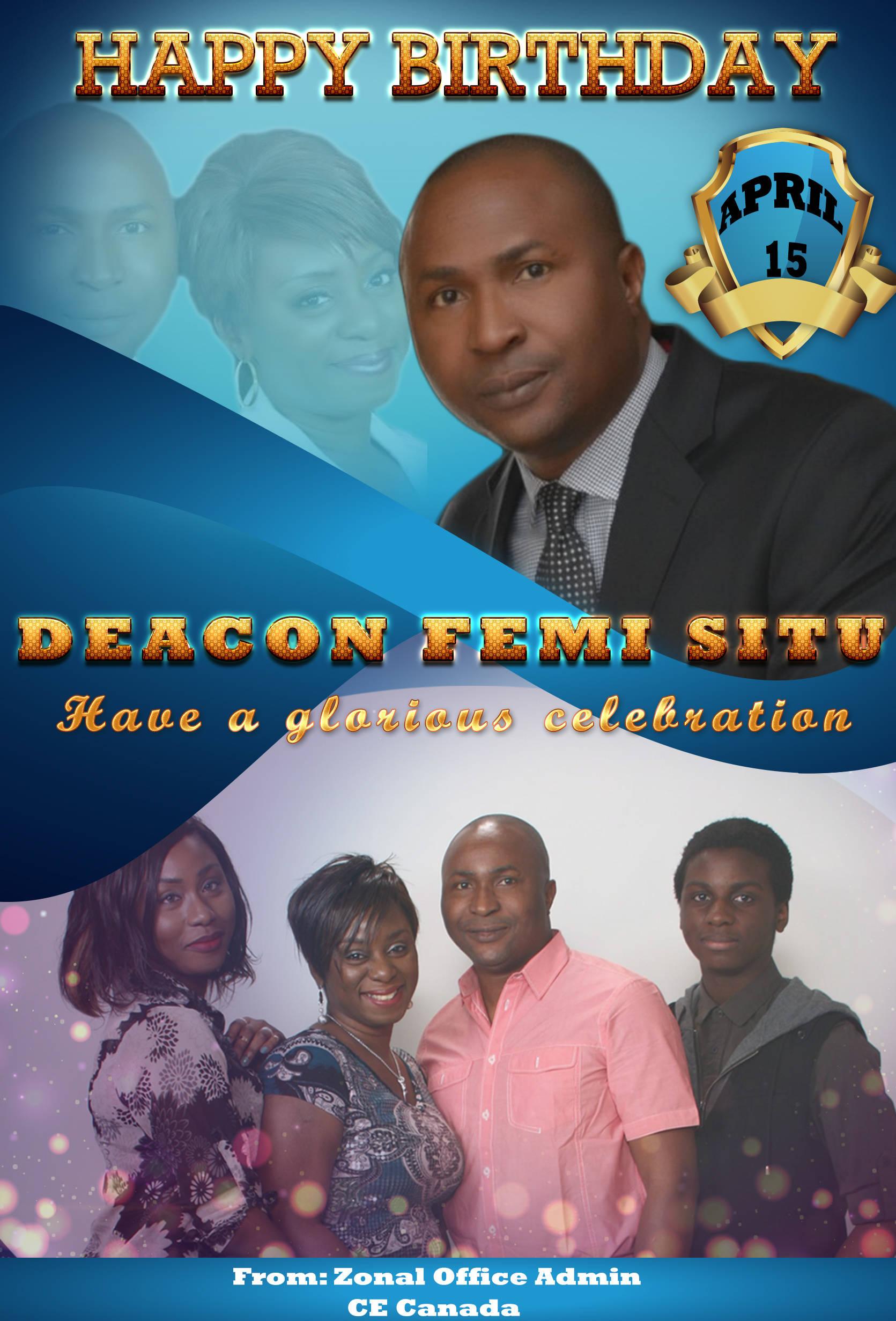 Happy Birthday to deacon Femi