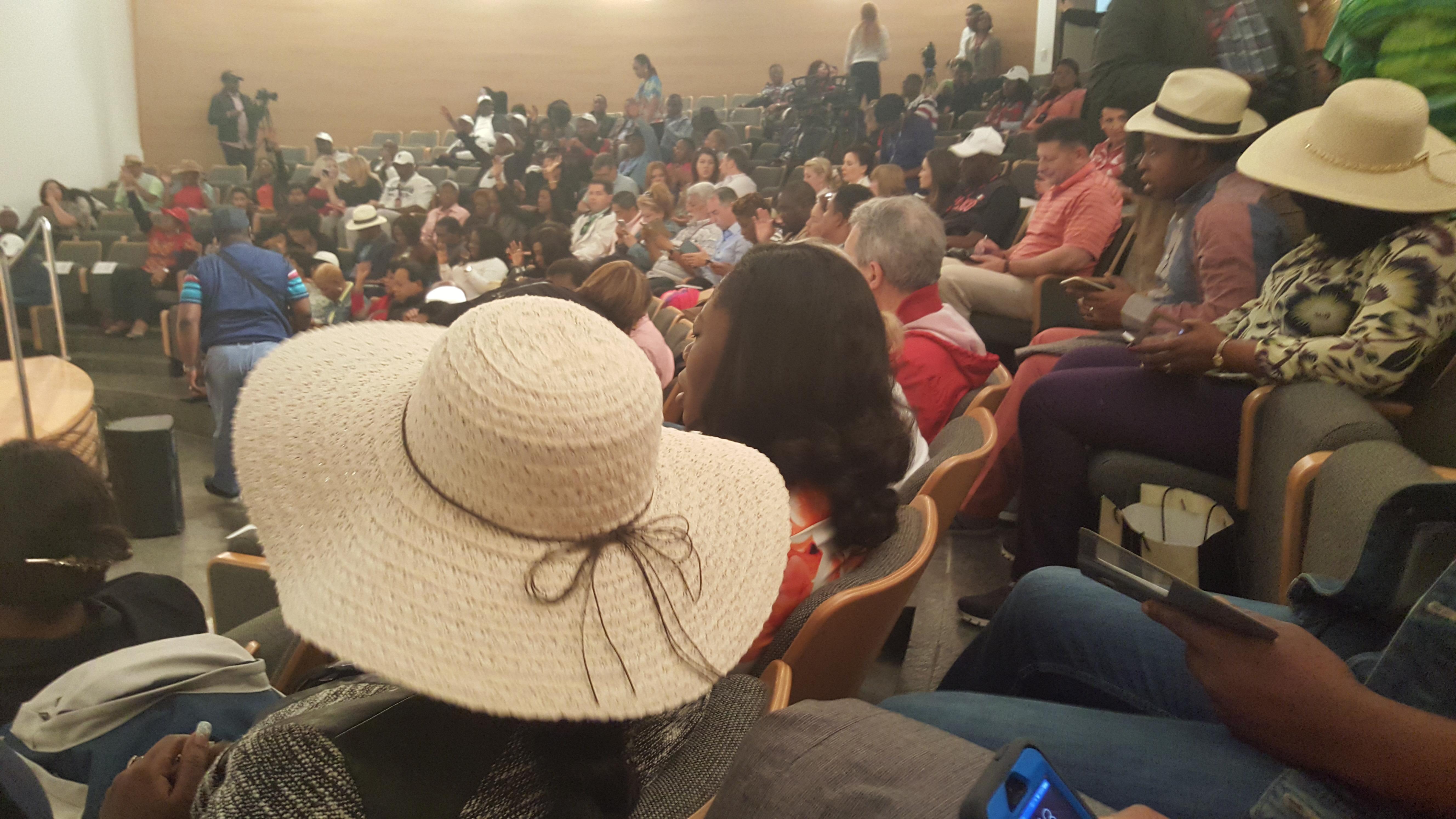 At the Van Leer Auditorium