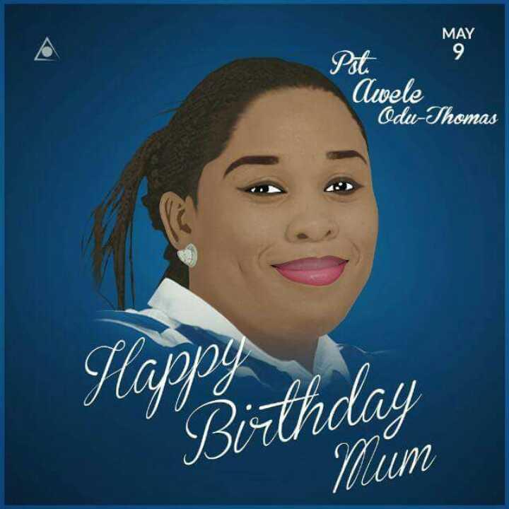 Happy Birthday ma,thank u for
