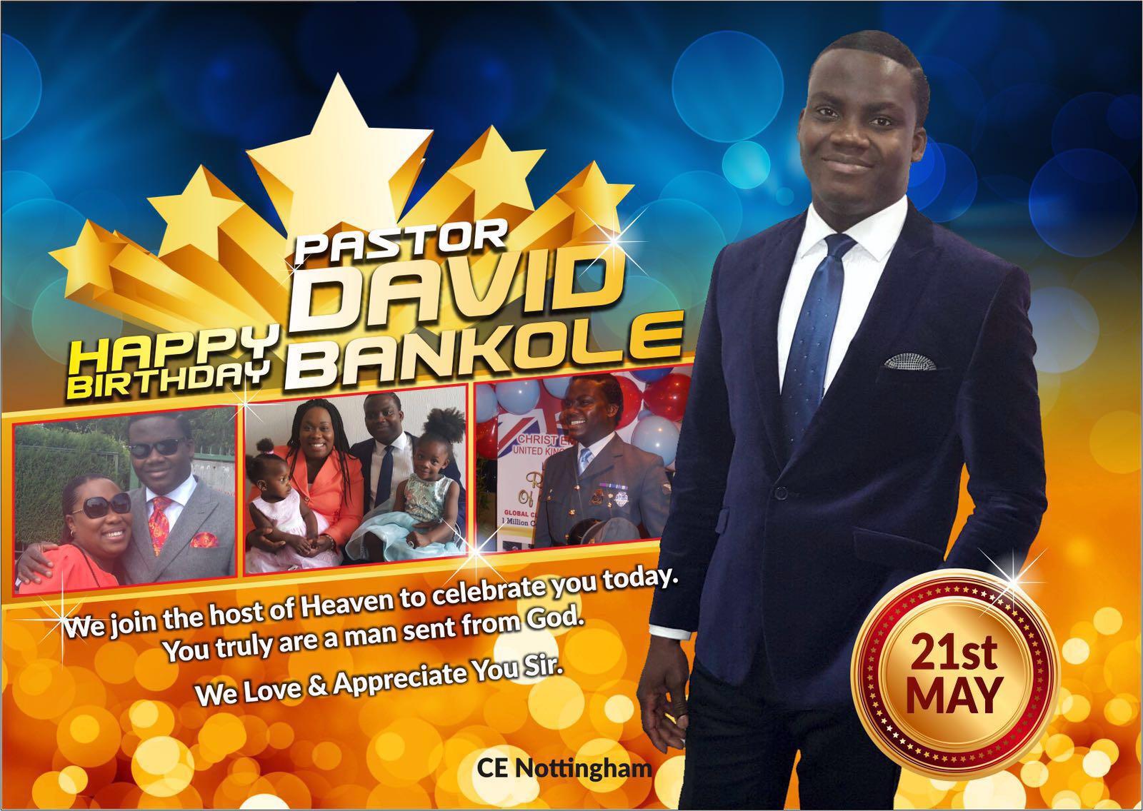 Happy birthday Pastor. Words are