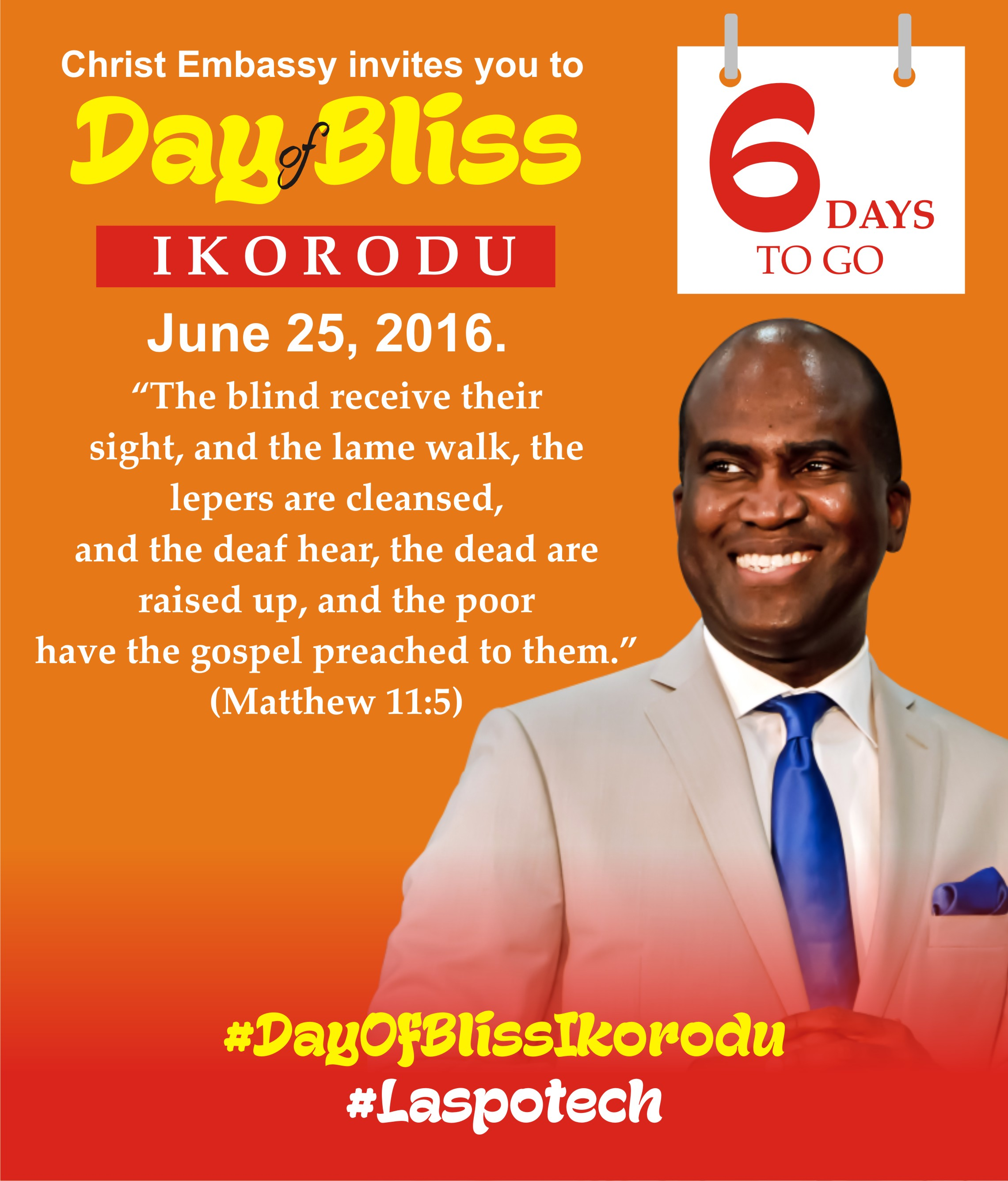 9 Days to go #DayOfBlissIkorodu