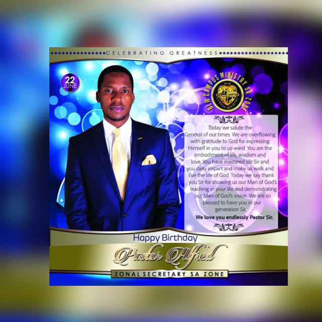 Happy Birthday Pastor Alfred sir.