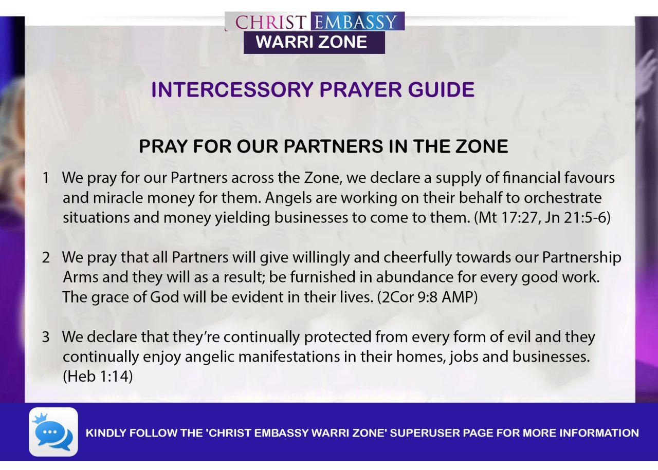 INTERCESSORY PRAYER GUIDE FOR THURSDAY