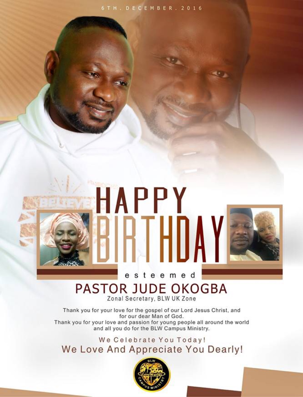 Happy Birthday Pastor Jude Sir!